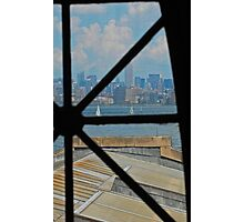 Through Historic Panes Photographic Print