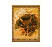 Country Cider Mill Water Wheel Art Print