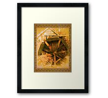 Country Cider Mill Water Wheel Framed Print