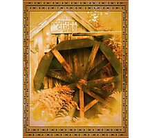 Country Cider Mill Water Wheel Photographic Print