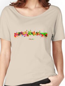 Glasgow Watercolor skyline Women's Relaxed Fit T-Shirt