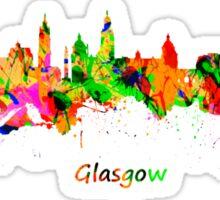 Glasgow Watercolor skyline Sticker