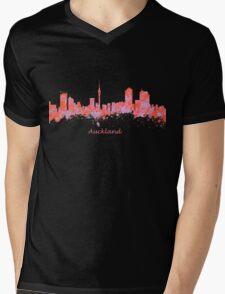 Auckland New Zealand Skyline art Mens V-Neck T-Shirt