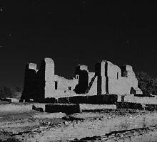 Salinas Pueblo Missions - Quarai Unit - in Moonlight by Mitchell Tillison