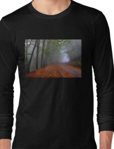 Lonesome stranger at the mythical mountain Long Sleeve T-Shirt