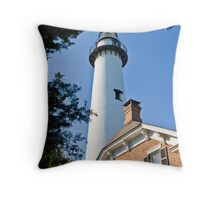 St. Simons Island Light House September 2010 Throw Pillow