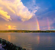 Rainbow morning by Veikko  Suikkanen