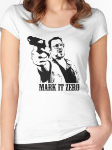 The Big Lebowski Mark It Zero T-Shirt Women's Fitted Scoop T-Shirt