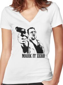 The Big Lebowski Mark It Zero T-Shirt Women's Fitted V-Neck T-Shirt