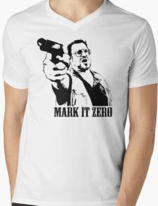 The Big Lebowski Mark It Zero T-Shirt Mens V-Neck T-Shirt