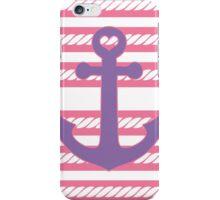 Cute Pink Purple Nautical Anchor iPhone Case/Skin