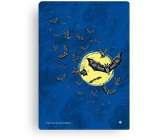 Bat Swarm (Shirt) Canvas Print