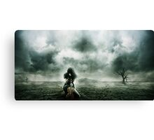 Nothing left to play about. Canvas Print