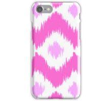 Cute Pink Ikat Pattern iPhone Case/Skin