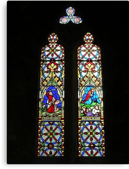 Wimborne Minster Abraham and Isaac window. by pix-elation