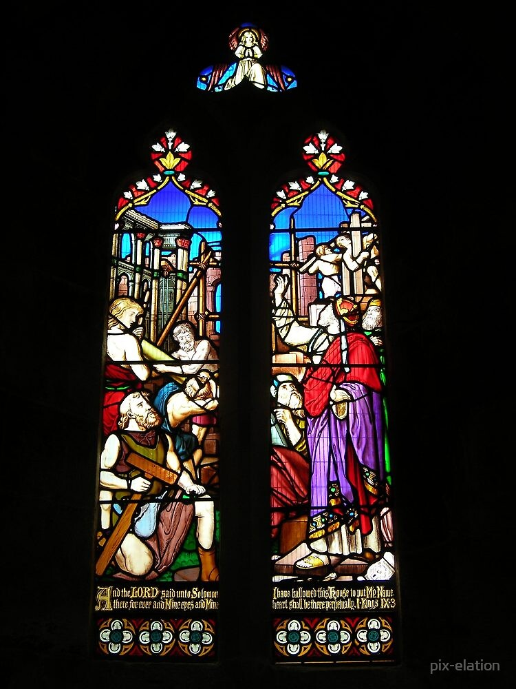 Wimborne Minster Solomon's Temple window. by pix-elation