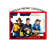 Texas Music Legends Photographic Print