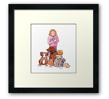 Rescue animals Framed Print