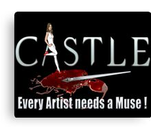 Castle Art Pen Every Artist needs a Muse white 2 Canvas Print