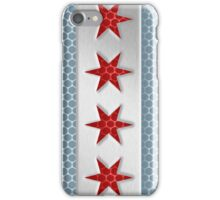 Chicago Flag Brushed Metal Look iPhone Case/Skin