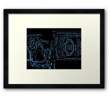 Neon JD Whiskey Framed Print