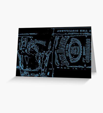 Neon JD Whiskey Greeting Card