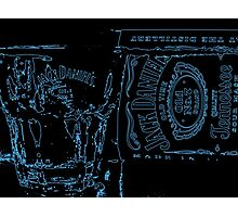 Neon JD Whiskey Photographic Print