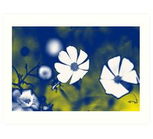 Anemone Flower Psychedelia Art Print