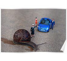 Stop: Snail Crossing Poster