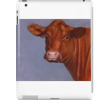 Red Hereford Beef Cow in Oil Pastel iPad Case/Skin