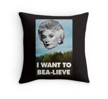 I Want to Bea-lieve Throw Pillow