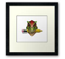 Dino Art Crunch Framed Print