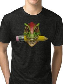 Dino Art Crunch Tri-blend T-Shirt