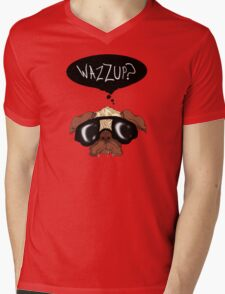 """Wazzup?"" Pug Mens V-Neck T-Shirt"