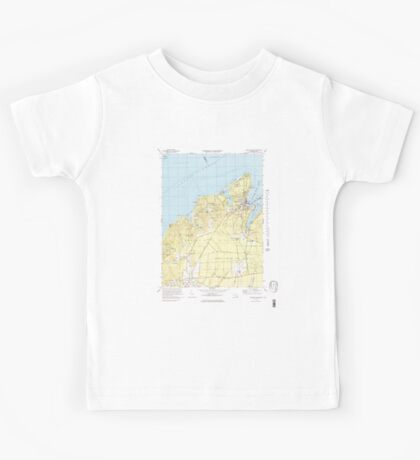 Massachusetts  USGS Historical Topo Map MA Vineyard Haven 351378 1972 25000 Kids Tee