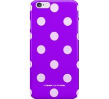 Purple Polka Dot iPhone Case/Skin