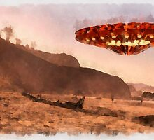 UFO Beach Holiday by Raphael Terra by esotericaart