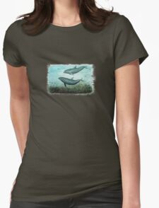 Two Inshore Dolphins Womens Fitted T-Shirt