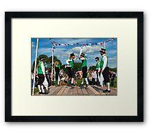 Morris Men ~ Colyford Goose Fayre 2010 Framed Print
