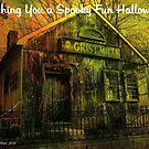 Wishing You A Spooky Fun Halloween Card by Debbie Robbins