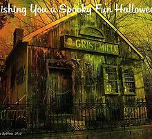 Wishing You A Spooky Fun Halloween Card by Debbie Robbins