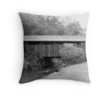 Indian Creek Covered Bridge Throw Pillow