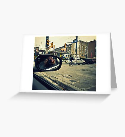 Photographer in Downtown  Greeting Card