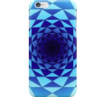 Blue wormhole iPhone Case/Skin
