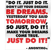 DO IT. JUST DO IT! Poster