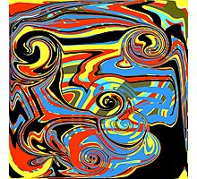 Wild Swirls Photographic Print