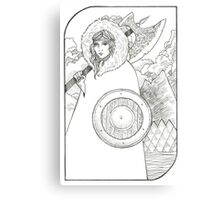 Wheel of Fortune - Tarot Card Canvas Print