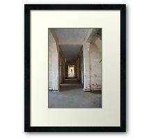 Hallway to ruin Framed Print