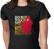 Do Not Touch - Gold Lettering Womens Fitted T-Shirt