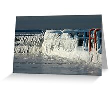 icy railings Greeting Card